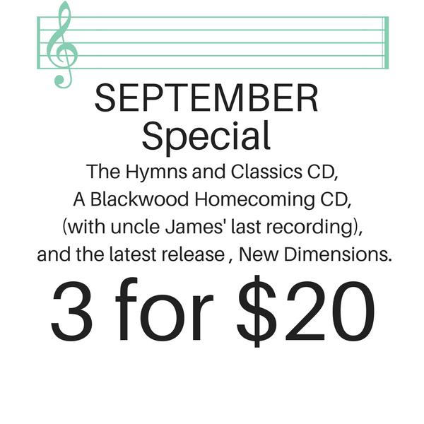September 2017 Special 3 albums for $20